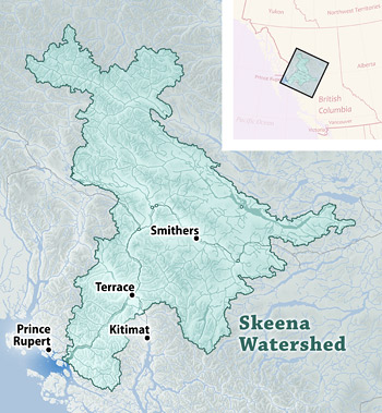 map of Skeena region